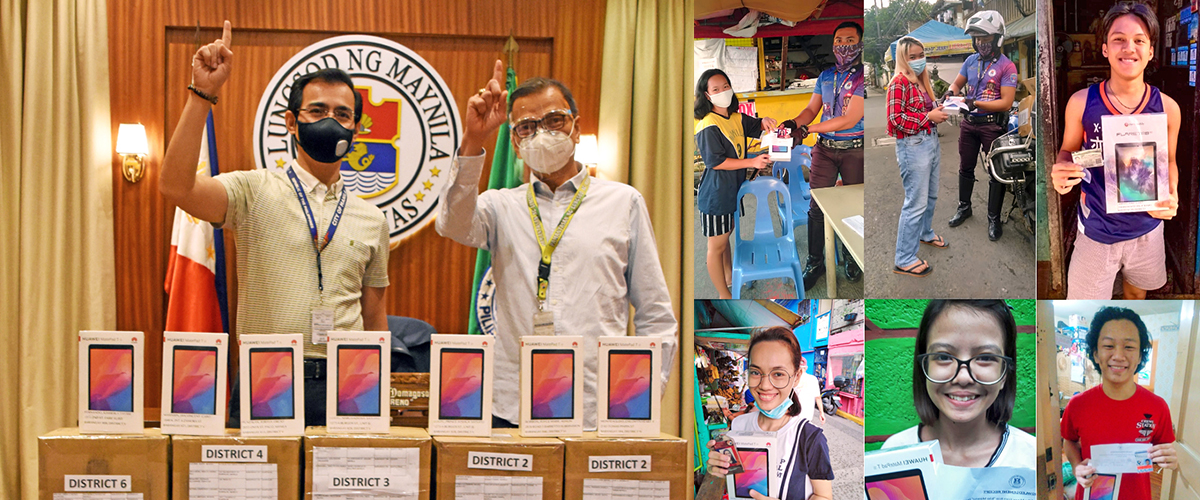 284 PLM students receive tablets from the City of Manila