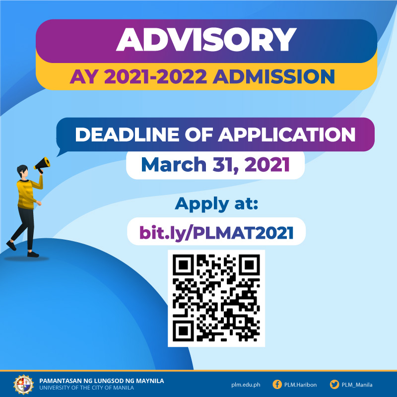 PLMAT 2021 application ends on March 31, 2021
