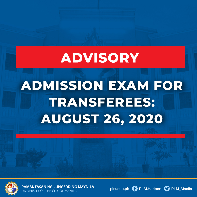 Announcement on the Admission Exam for Transferees