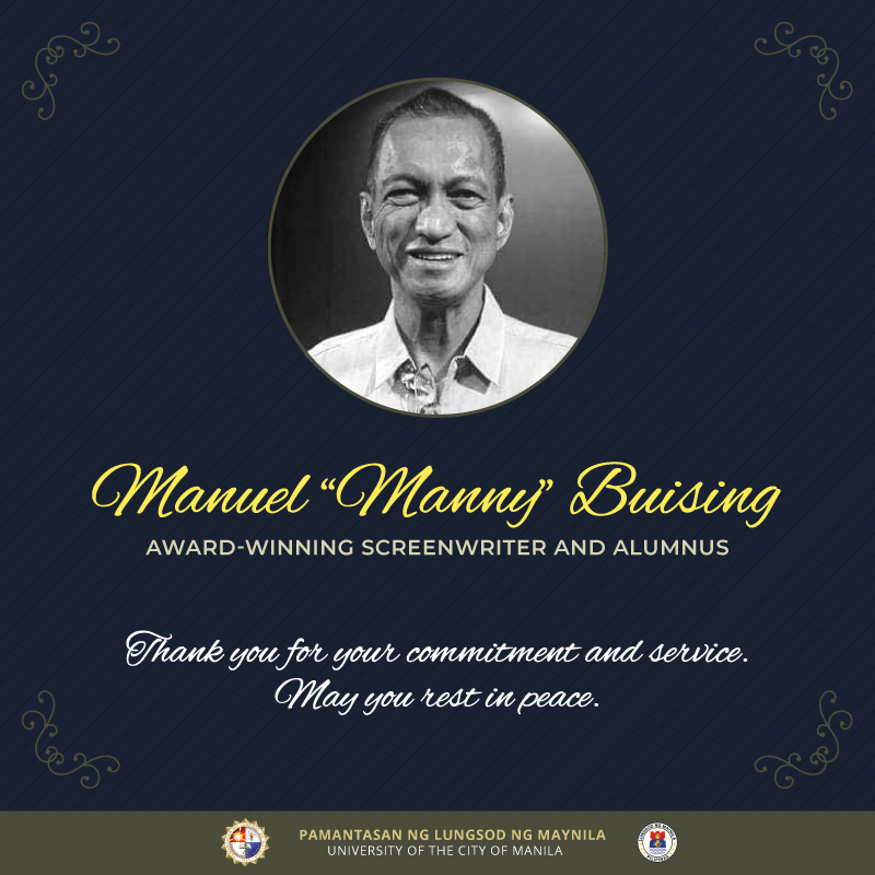 "PLM mourns passing of Mr. Manuel ""Manny"" Buising"