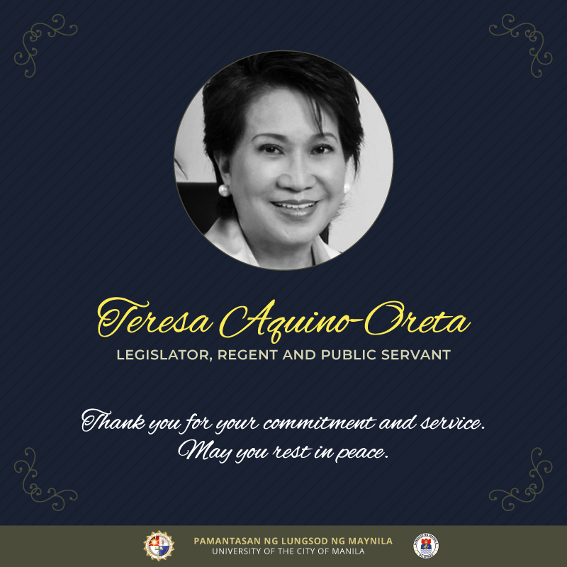 PLM mourns passing of Sen. Aquino-Oreta